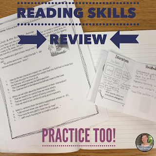Middle School Reading Test Prep:  Have Fun Teaching and Reviewing in the Classroom with this Activity and Game!  #languagearts #learning #comprehensionquestions