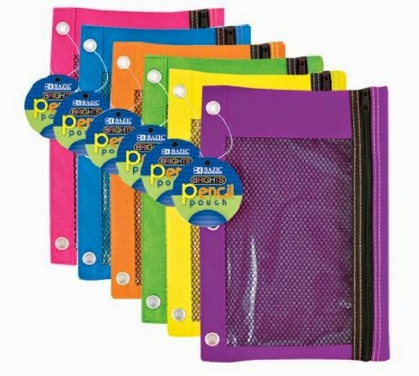 Colorful Mesh Pencil Bags Home Storage