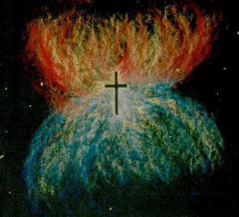 Cross and Nebula (Pastel)