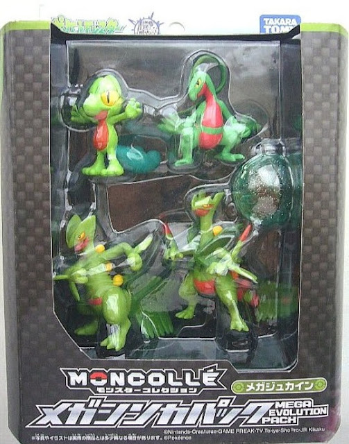 Treecko figure Takara Tomy Monster Collection MONCOLLE Mega Sceptile Evolution Pack