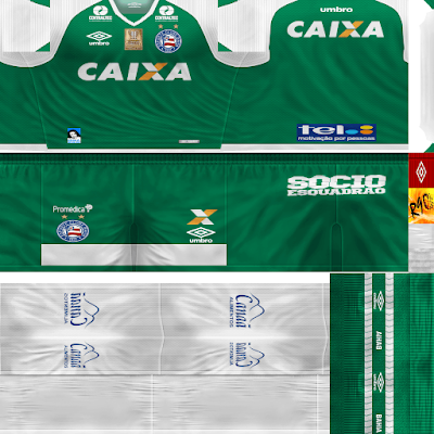 PES 6 Kits Esporte Clube Bahia Season 2017/2018 by Rodry90 Kitmaker