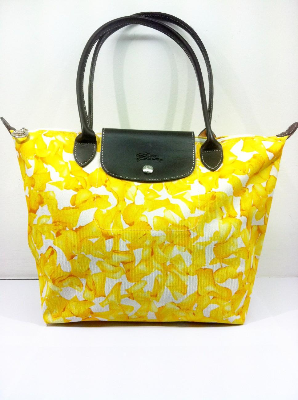 45765ac795a Original LONGCHAMP Floral Print Size Medium + Long Handle Thick canvas  material, Leather handles. RM350.00. NOW RM325.00. LAST PIECE!