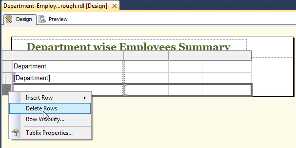 Ssrs Row Visibility Expression