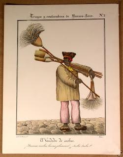 Vendedor de escobas. Litografía de César Hipólito Bacle.