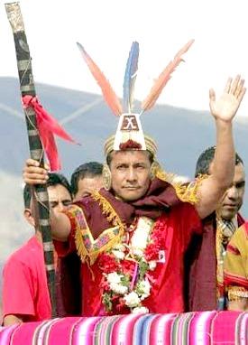 Imagen de Ollanta Humala vestido de Inca