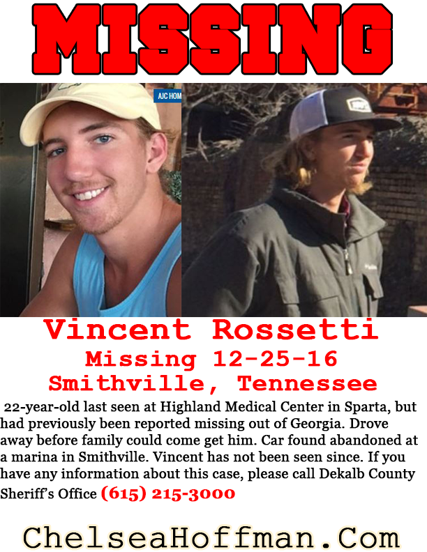 Tennessee: Vincent Rossetti missing since Dec. 25, 2016