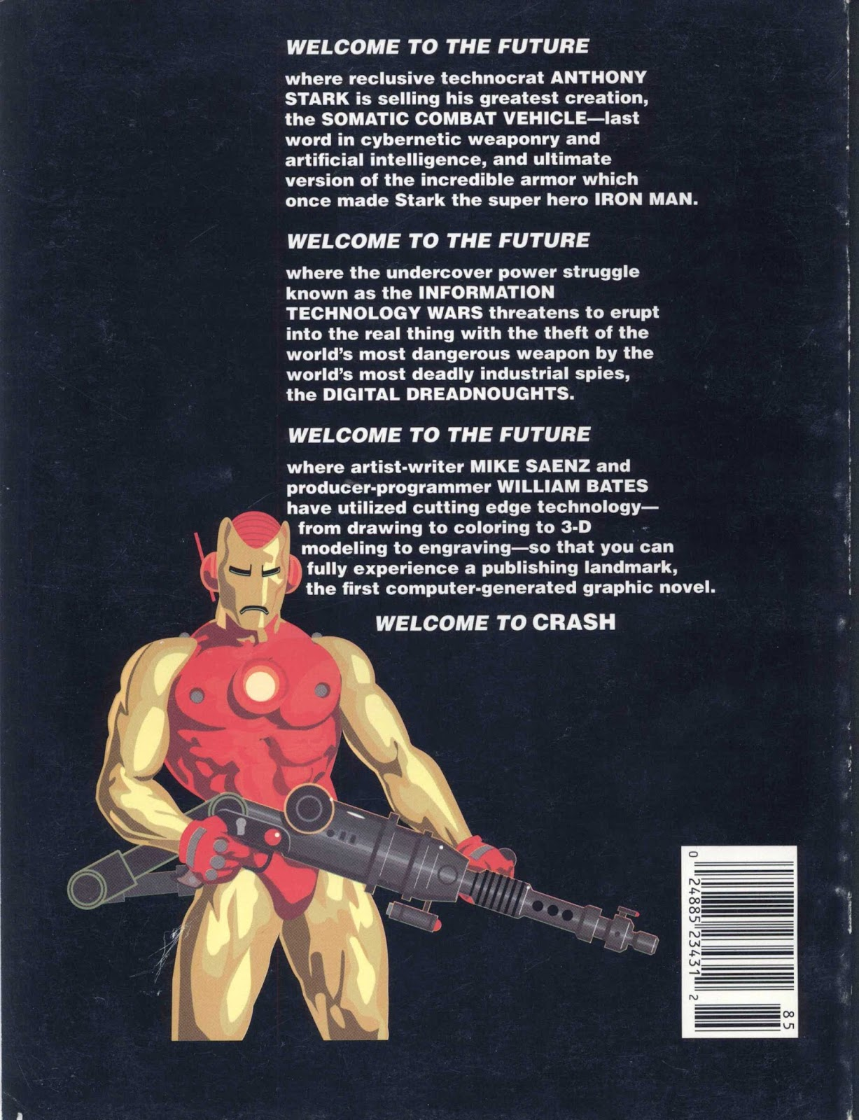 the porpor books blog sf and fantasy books 1968 1988 iron man crash 72 pp was published as a marvel graphic novel in 1988 along the 65 pp graphic novel there is a 7 page afterward featuring an essay from