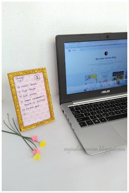 bullet-journal-daily-tasks-on-glitter-frame-myindianversion-blog
