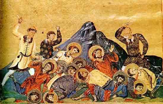 Bulgars killing Byzantines