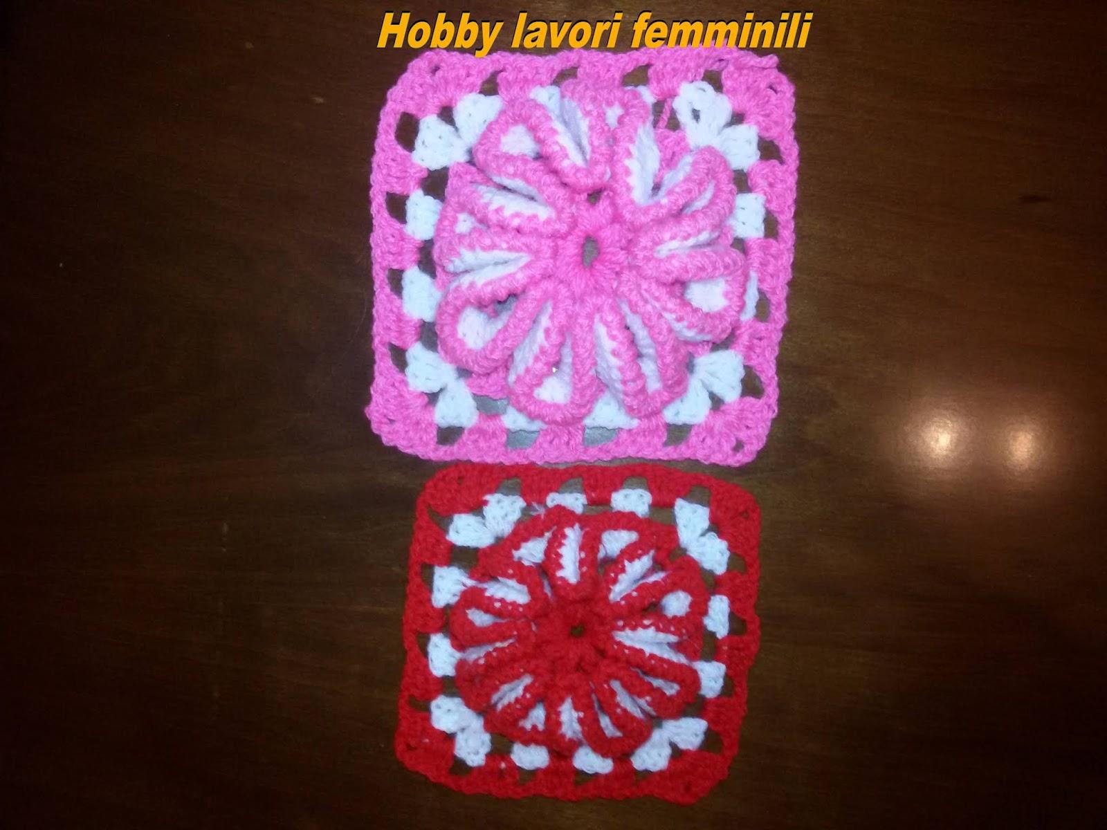Hobby lavori femminili ricamo uncinetto maglia: piastrella