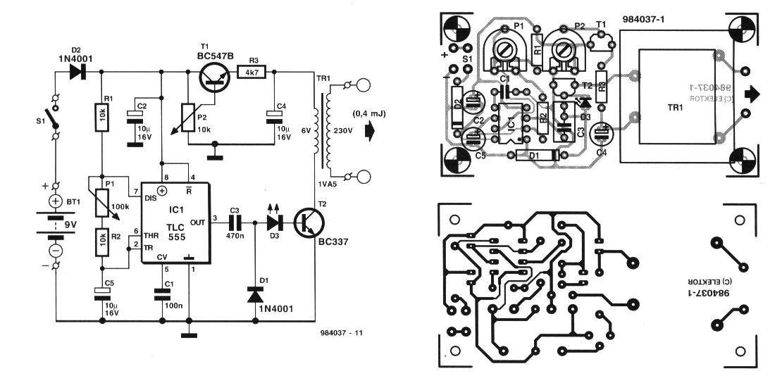 electric fence charger circuit