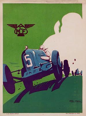 1935 MCF (Motor Club de France) original poster by Geo Ham