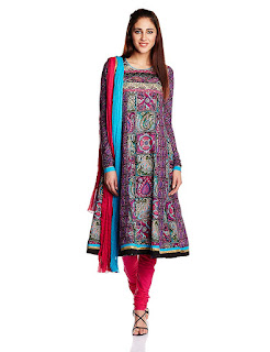 Rain and Rainbow Cotton Salwar Suit from FashionDiya