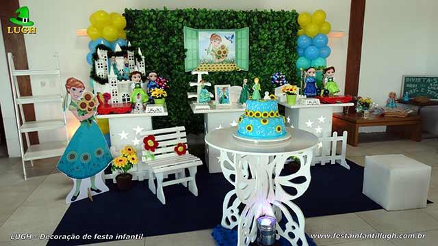 Decoração de aniversário infantil tema Frozen - Febre Congelante - Aniversário da Anna - Barra - RJ