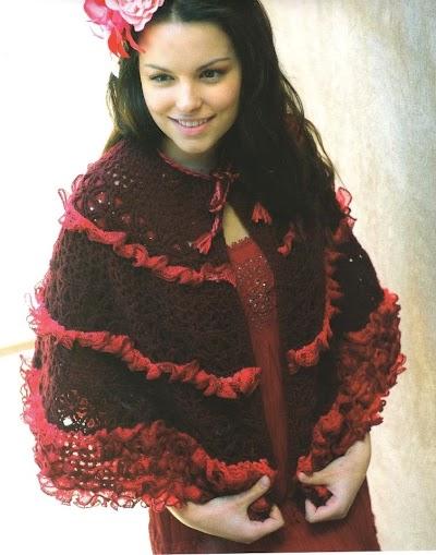 Capa con Volantes Crochet Patron