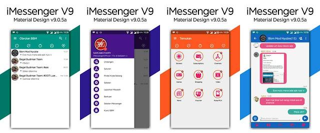Download BBM Mod Apk iMessenger v9 Terbaru