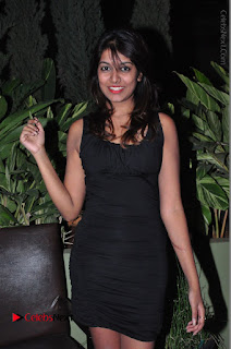 Actress Kavya Kumar Stills in Black Short Dress at F Club pre soft Launch  0026.JPG