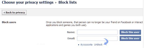 how to unblock yourself from facebook