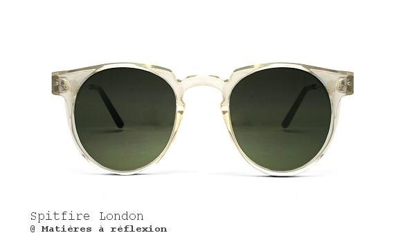 Lunettes de soleil verres bleu Spitfire London Teddyboy