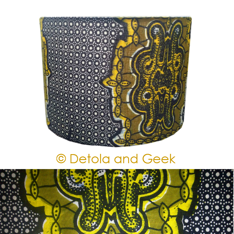Detola and geek new lampshade design blue yellow tribal african my shops social media links are aloadofball Choice Image