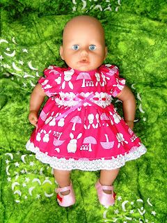 Doll's Easter dress