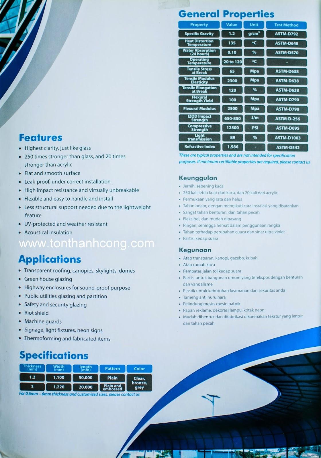 Catalogue Tấm Lấy Sáng Polycarbonate Đặc Ruột SolarFlat - Trang 3