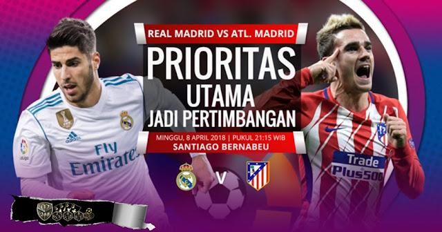 Prediksi Real Madrid Vs Atletico Madrid, Minggu 08 April 2018 Pukul 21.15 WIB