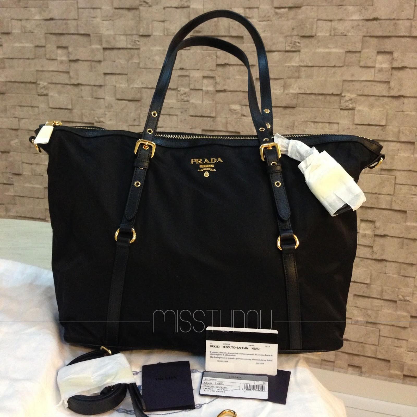 Prada Tessuto Nylon Tote Bag Handbags Popular