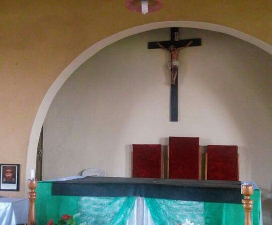 image bleeding jesus crucifix church benue state