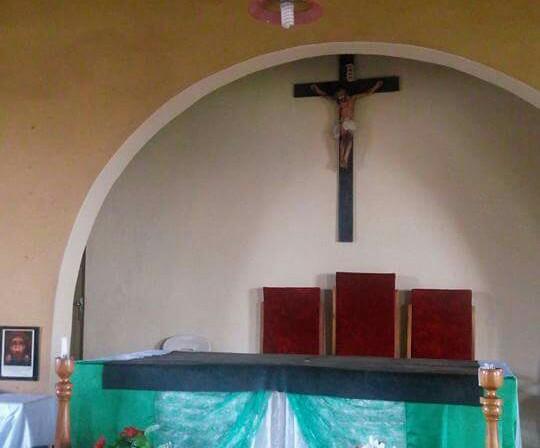 image bleeding jesus crucifix church benue state