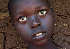 african boy killed while his eyes open
