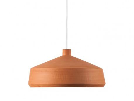 lámpara de barro de Pott