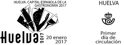 Filatelia - Huelva - Capital Española de la Gastronomía 2017 - Matasellos Primer día de circulación