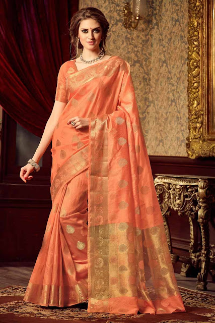 5 Peach Sari's You Can't Afford to Miss