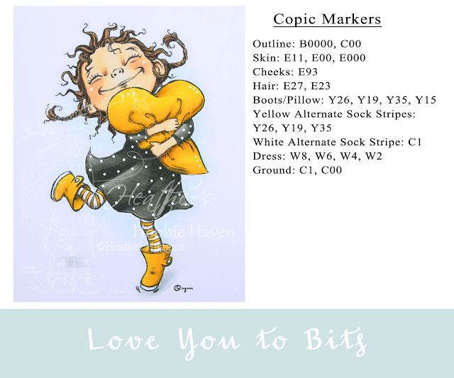 Heather's Hobbie Haven - Color Wednesday - Love You to Bits