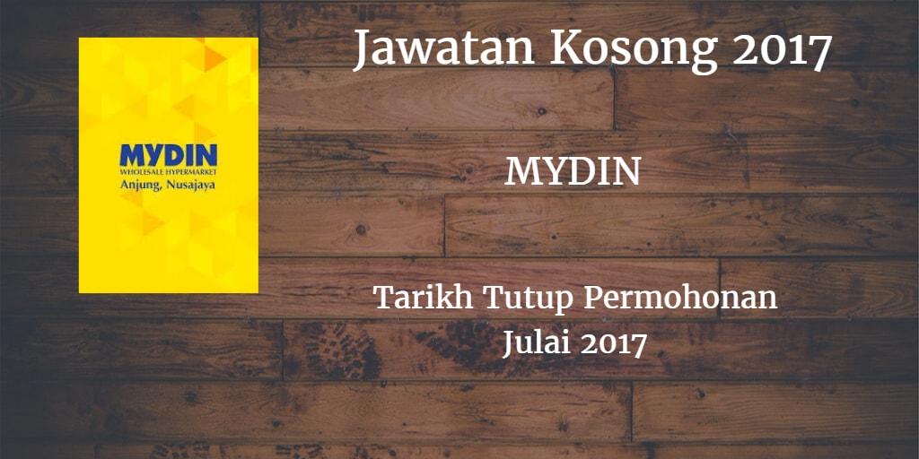 Jawatan Kosong MYDIN Julai 2017