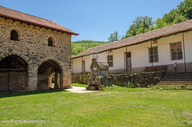 Front yard - Slepče Monastery - St. John the Forerunner near village Slepče, Demir Hisar