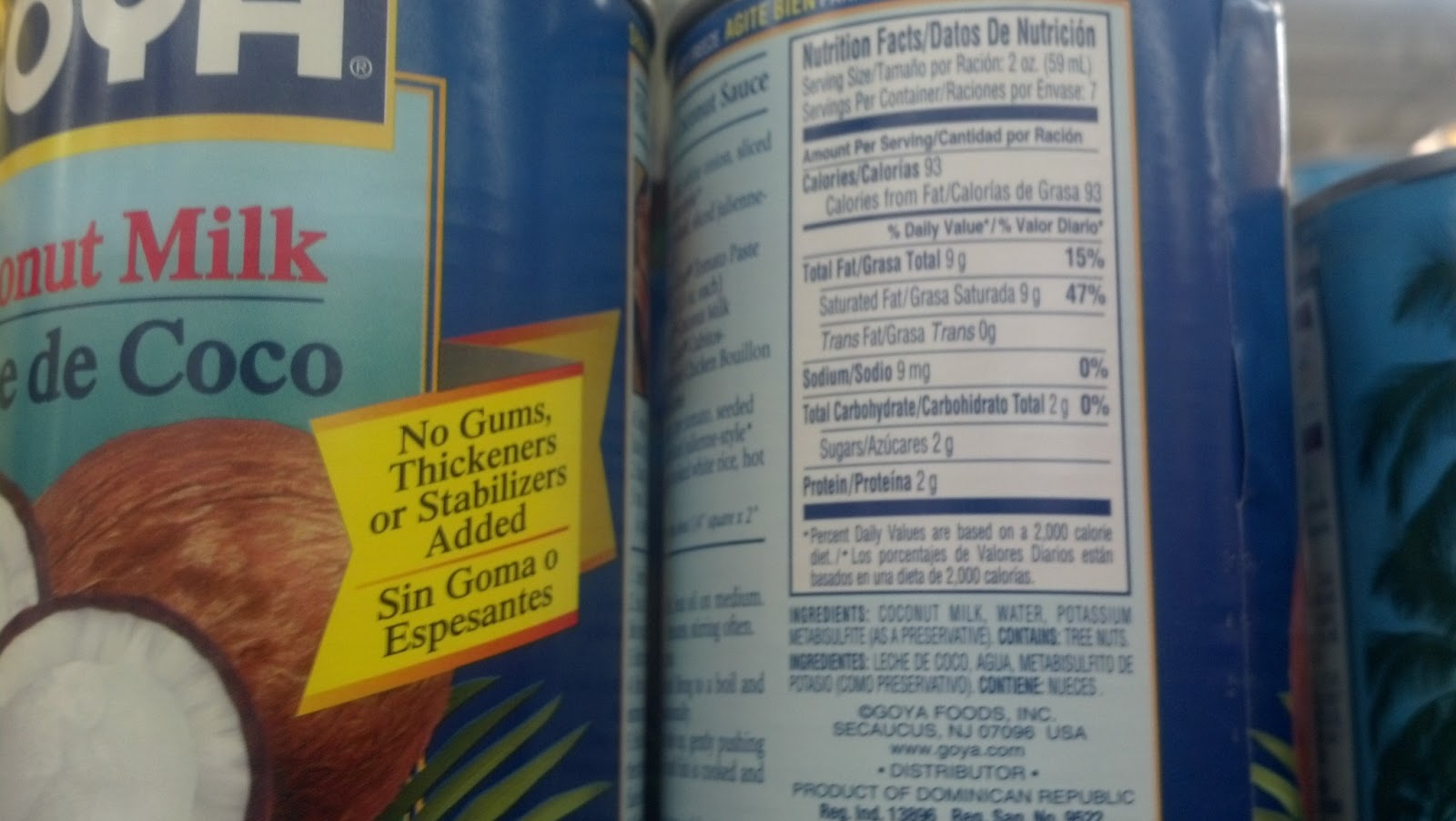 Canned Coconut Milk Nutrition