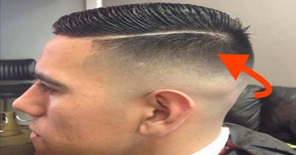 Corte de cabello con raya que significa