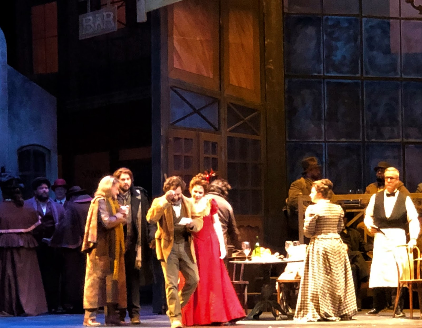 IN REVIEW: the cast of Opera Carolina's January 2020 production of Giacomo Puccini's LA BOHÈME [Photograph by Mitchell Kearney, © by Opera Carolina]