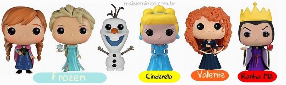 Funkos princesas da Disney