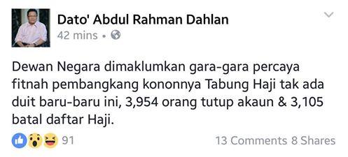 Lebih 3,000 Pemilik Akaun Tabung Haji Batalkan Niat Ke Tanah Suci @mpkotabelud @Tabung_Haji