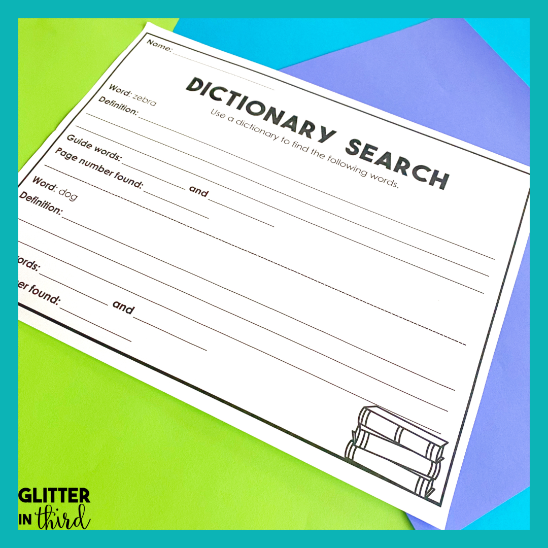 Do You Want A Free Dictionary Skills Worksheet