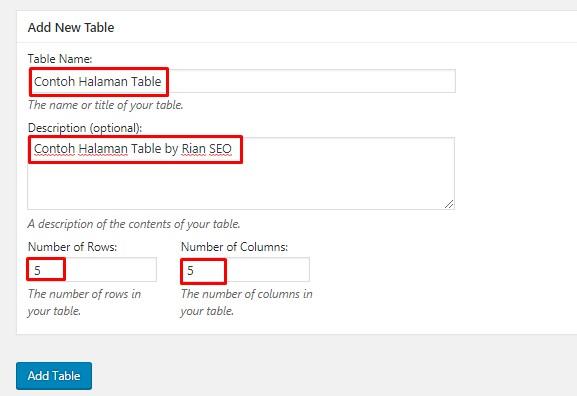 Cara Memasang Table di Postingan Blog Blogger dan WordPress