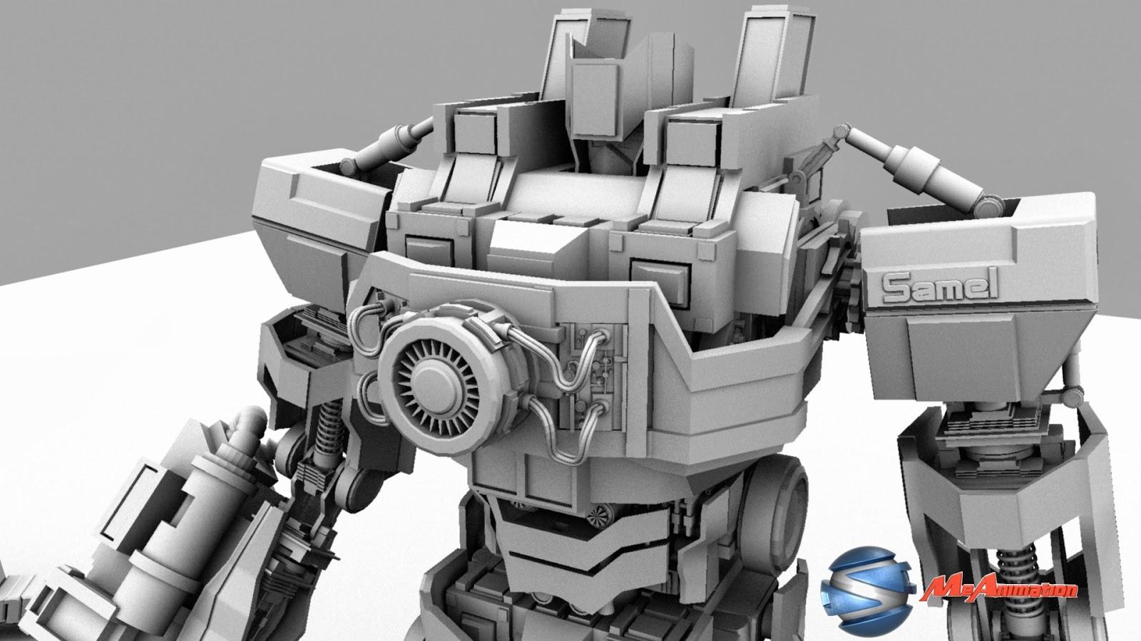 3D Art Work: 3D super robot Mech SM1 design