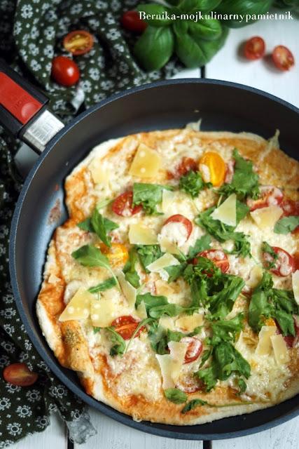 pizza, patelnia, obiad, bernika, kulinarny pamietnik, wloska kuchnia