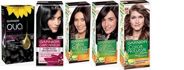 Garnier saç siyah renk kataloğu
