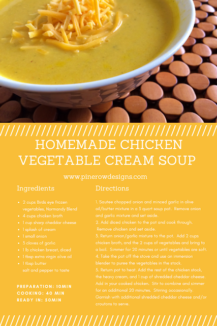 homemade chicken vegetable cream soup recipe