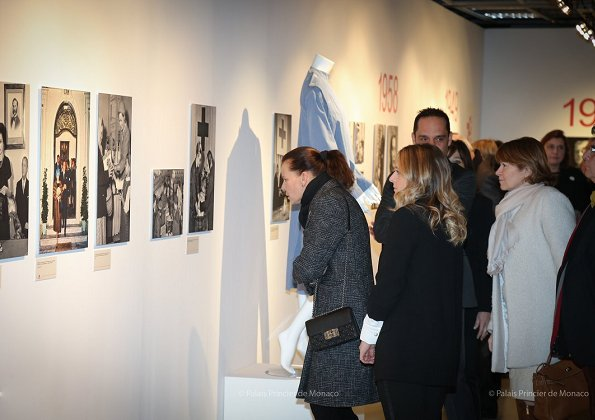 Princess Stephanie of Monaco visited a photograph exhibition held at Quai Antoine Exhibition Hall