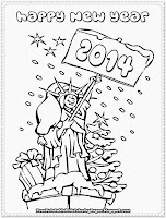 happy new year printable coloring pages to print